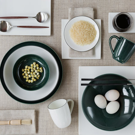 ASA Selection - Seasons Specked Plate - Green - Pasta Plate