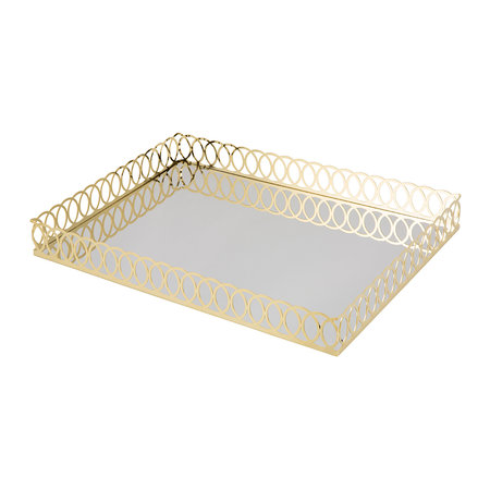 Villari - New York Bathroom Tray - Gold