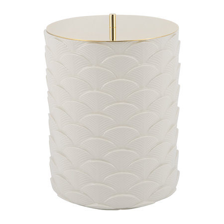 Villari - Peacock Waste Basket - White