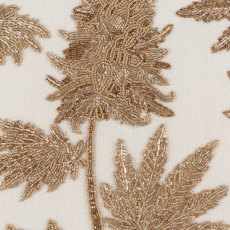 Jonathan Adler - Botanist Ganja Cushion - Gold/White