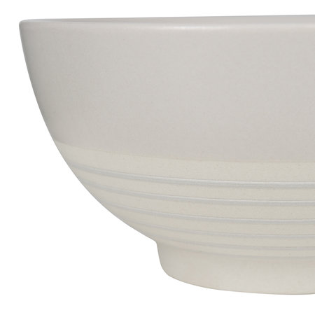 Canvas Home - Clef Stripe Cereal Bowl - Light Gray