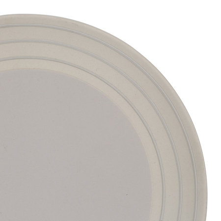 Canvas Home - Clef Stripe Salad Plate - Light Grey
