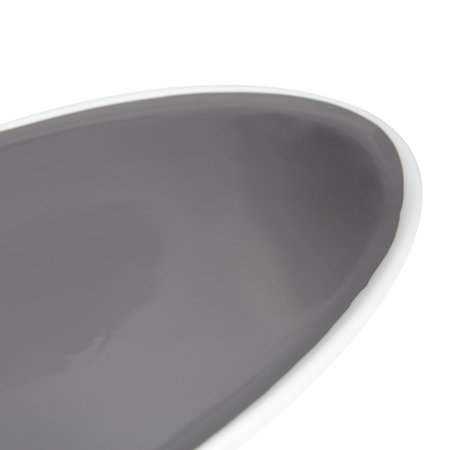 Canvas Home - Dauville Oval Platter - Platinum - Large