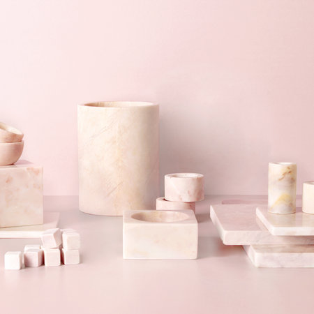Stoned - Marble Pen Pot/Toothbrush Holder - Pink