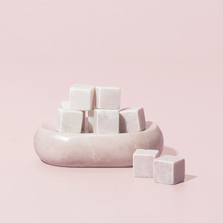 Stoned - Marble Soap Dish - Pink