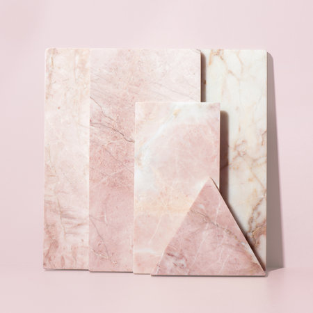 Stoned - Triangular Marble Serving Board - Pink