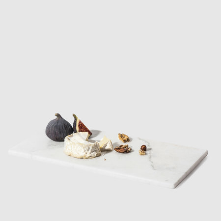 Stoned - Rectangular Marble Serving Board - White - 20x40cm