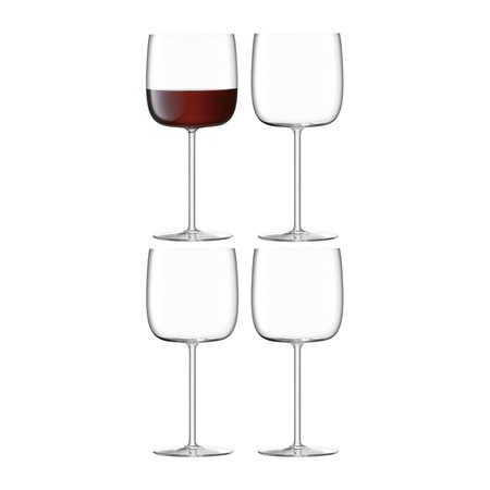 LSA International - Verre à Vin Borough - Lot de 4 - Transparent - 450 ml