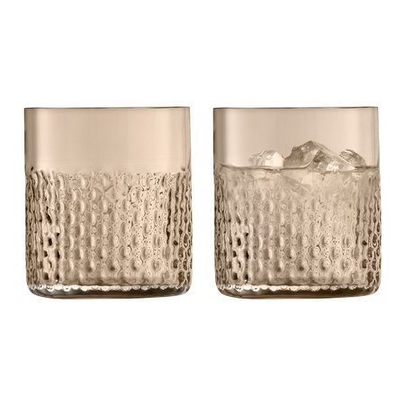 LSA International - Wicker Tumbler - Set of 2 - Taupe
