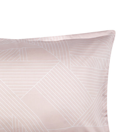 Christy - Deco Jigsaw Quilt Set - Pale Coral - King