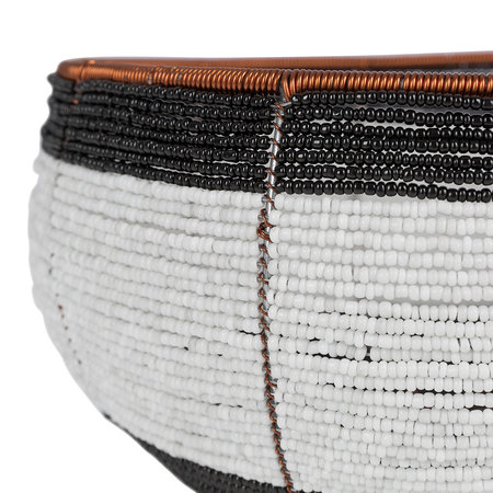 Source - Beaded Black & White Bowl