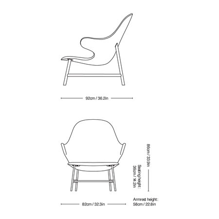 &Tradition - Catch JH13 Lounge Chair - Hallingdal