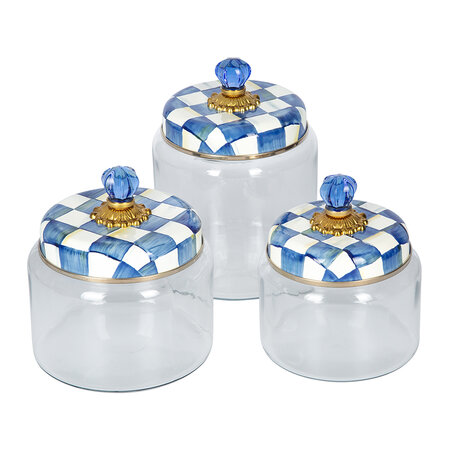 MacKenzie-Childs - Royal Check Kitchen Canister - Small