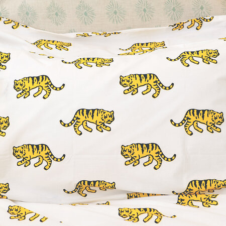 Lulu & Nat - Bedlinen Set in Bag - Tiger - Super King