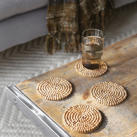 Retreat - Wooden Beaded Coaster - Set of 4