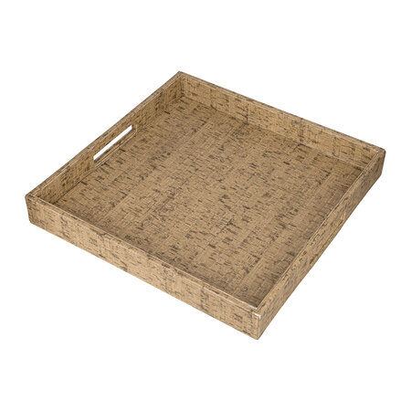 Luxe - Faux Leather Tray - Cork Effect