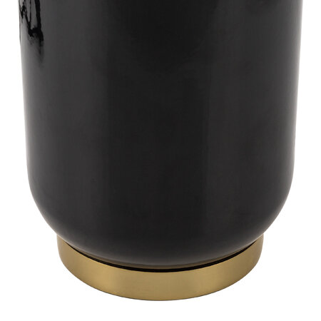 Luxe - Round Black Table Lamp