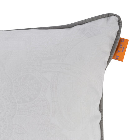 Etro - Jacquard Reims Pillow with Piping - 45x45cm - Gray