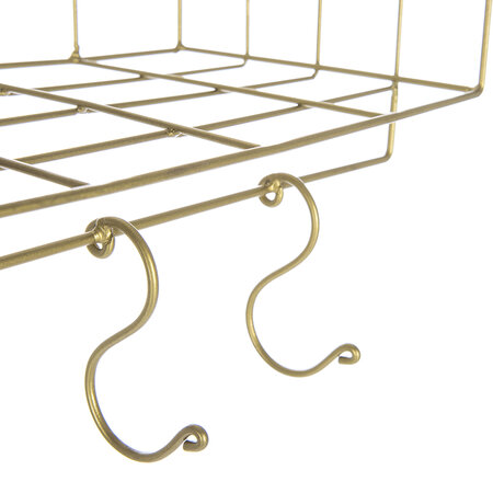 Retreat - Wall Shelves With Hooks - 2 Tier