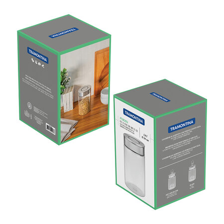 Tramontina - Glass Canister with Airtight Seal - 1L