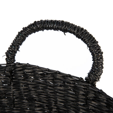 Broste Copenhagen - Astrid Sea Grass Basket - Set of 3 - Black