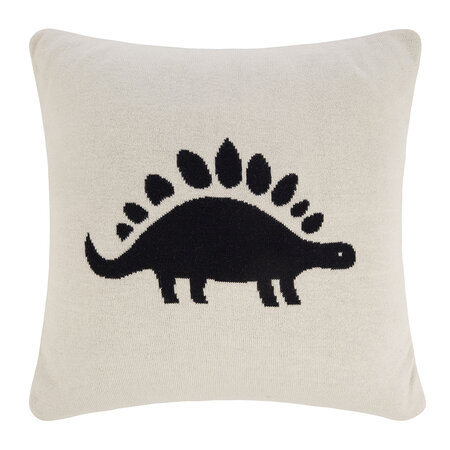 Retreat - Coussin Animal Tricoté - 40x40cm - Dinosaure