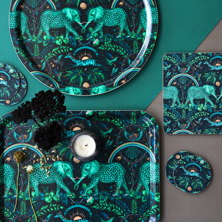 Emma J Shipley - Set de Table Zambia - Bleu Sarcelle