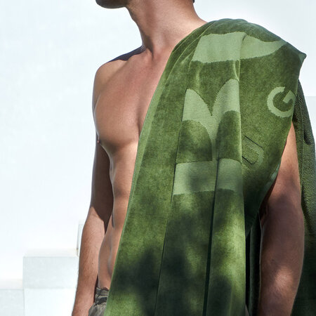 Hugo Boss - Carved Beach Towel - Khaki