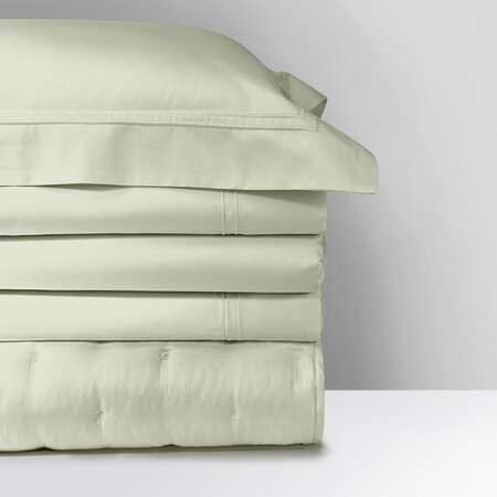 Yves Delorme - Triomphe Quilt Cover - Sage - Super King