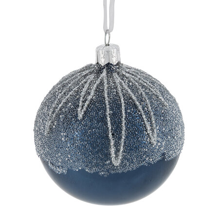 A by AMARA - Ballot Top Bauble - Set of 6 - Night Blue