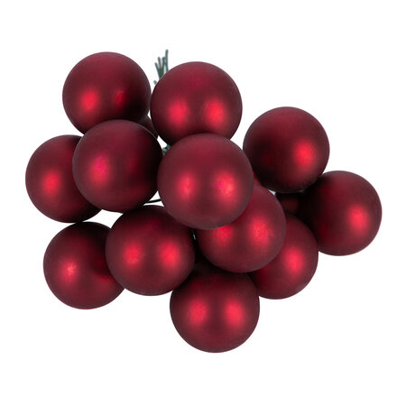 A by AMARA - Bauble Cluster Tree Decoration - Set of 12 - Oxblood