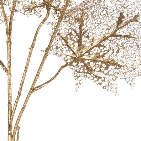 A by AMARA Christmas - Skeleton Leaves Branch - Gold