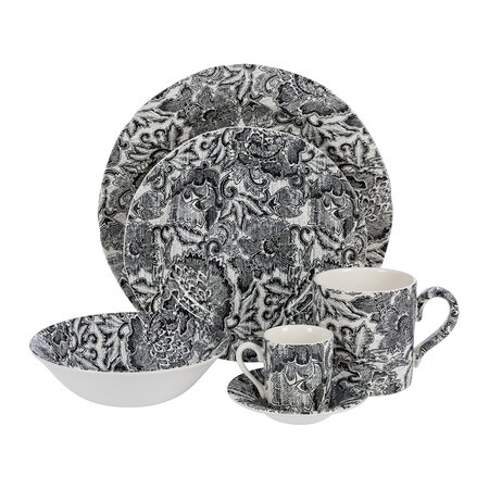 Ralph Lauren Home - Faded Peony Cereal Bowl - Black