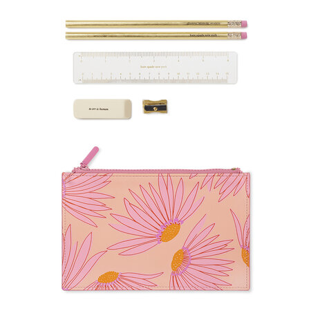 kate spade new york - Falling Flowers Pencil Pouch