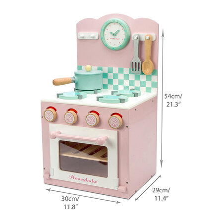 Le Toy Van - Oven & Hob Wooden Toy - Pink