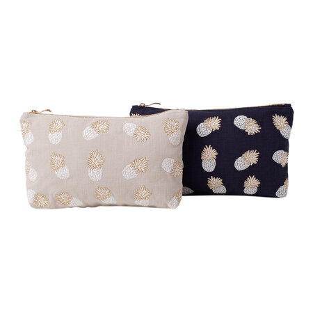 Elizabeth Scarlett - Ananas Travel Pouch - Cloud