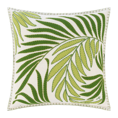 Jan Constantine - Tropical Palm Cushion - White - 46x46cm