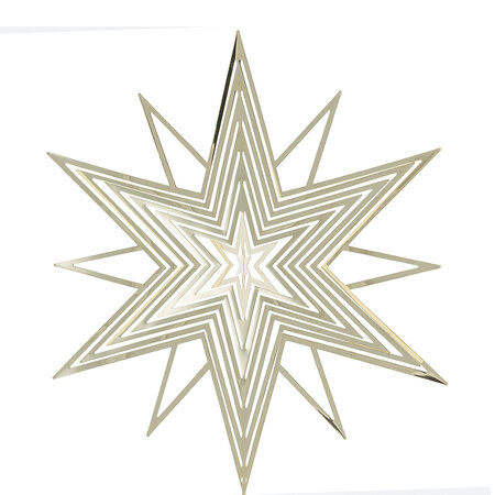 A by AMARA Christmas - 3D Star Tree Topper - Gold