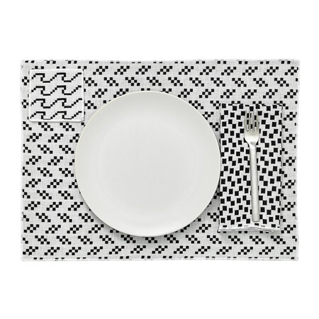 Areaware - Assorted Printed Placemats - Set of 4 - Black & White