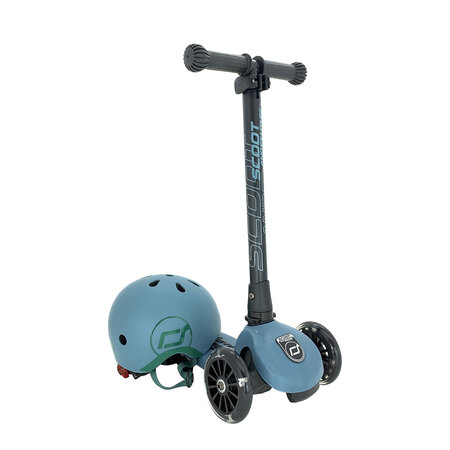 Scoot and Ride - Highway Kick 3 LED - Steel