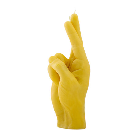 Candle Hands - 'Fingers Crossed' Candle - Yellow