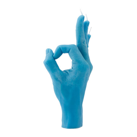 Candle Hands - 'OK' Candle - Blue