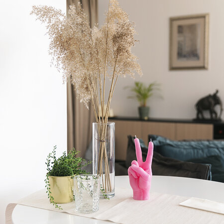 Candle Hands - 'Victory' Candle - Pink