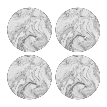 Luxe - Gunnison Porcelain Side Plates - Set of 4 - Silver
