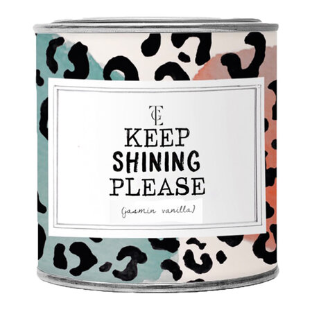 The Gift Label - Candle Tin - Large - Keep Shining Please