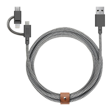 Native Union - Universal Belt Cable - 2m - Zebra