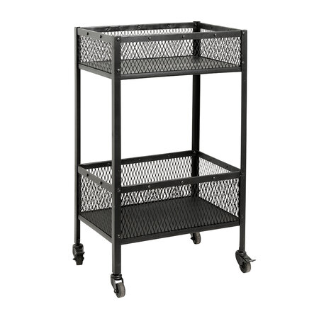 Nordal - Iron Trolley with Baskets - Black - Small