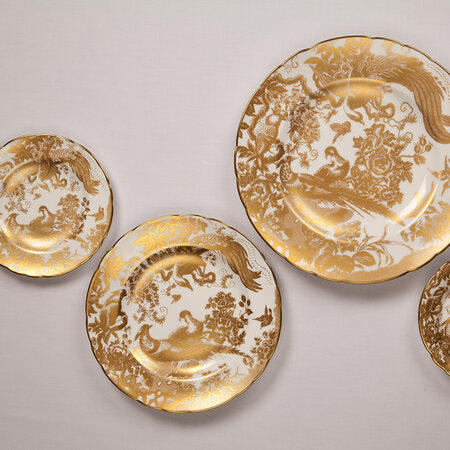 Royal Crown Derby - Aves Gold Schale
