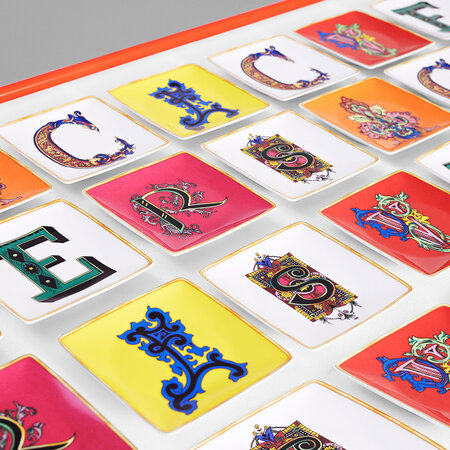 Versace Home - Alphabet Trinket Trays - E