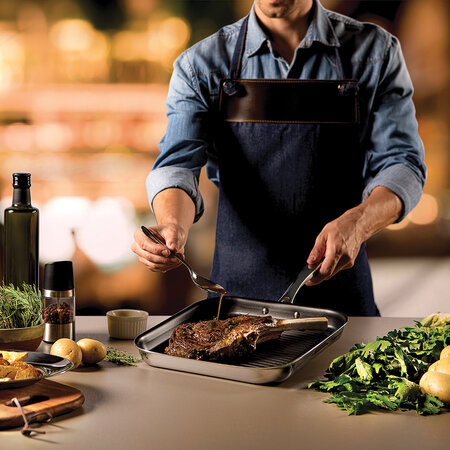 Tramontina - Stainless Steel Griddle Pan